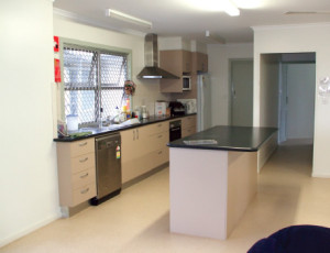 Kitchen at the Innisfail Youth Shelter